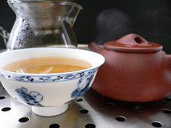 Té de hojas de sen